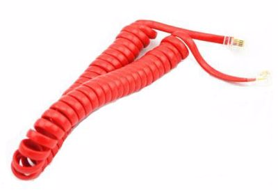 4-Core Telephone Handset Curve Cable with two 4P4C Κόκκινο
