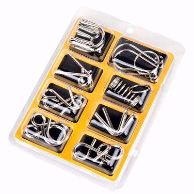 8PCS/Set Materials Metal Montessori Puzzle