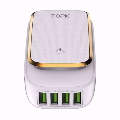 Picture of TOPK L-Power 4-Port 4.4A 22W USB Charger - LED Lamp