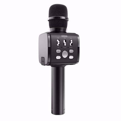 JOYROOM JR-MC3 Handheld Wireless Bluetooth Microphone with Cell Phone Holder - Black