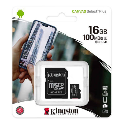Kingston Canvas Plus C10, 16 GB, A1 SDHC, Read 100MB/S (SDCS2/16GBSP)
