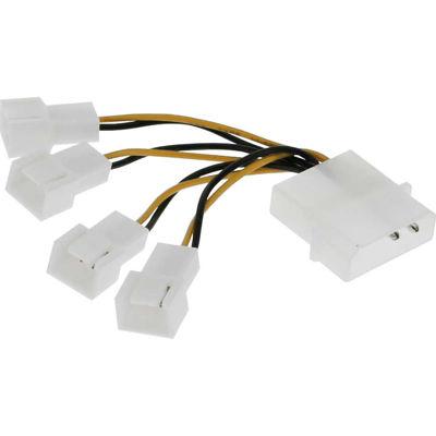 InLine® adaptor 4Pin (12V) to 4x 3Pin (12V)