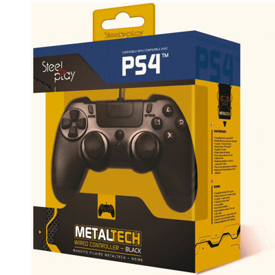 STEELPLAY METAL TECH WIRED CONTROLLER - ΧΕΙΡΙΣΤΗΡΙΟ PS4/PS3/PC - Μαύρο
