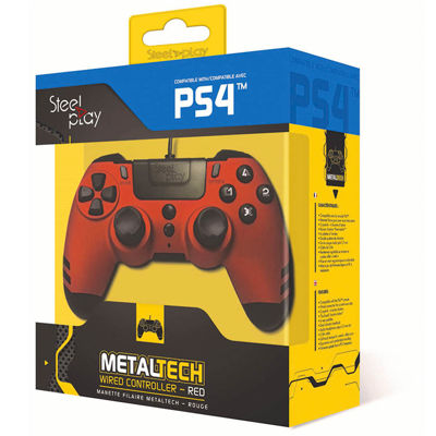STEELPLAY METAL TECH WIRED CONTROLLER - ΧΕΙΡΙΣΤΗΡΙΟ PS4/PS3/PC - RED