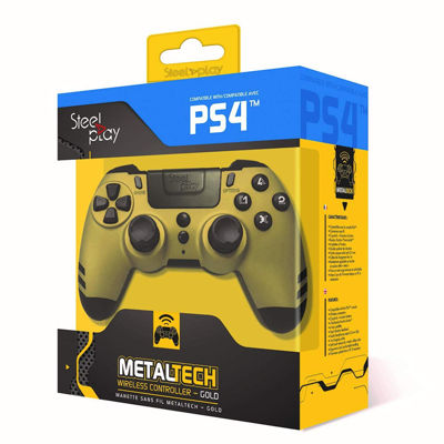 STEELPLAY Metaltech Wireless PS4 Controller Gold