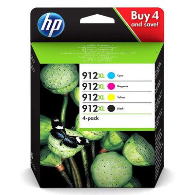 Μελάνι HP 912XL Multipack (Black-Cyan-Magenta-Yellow) 3YP34AE