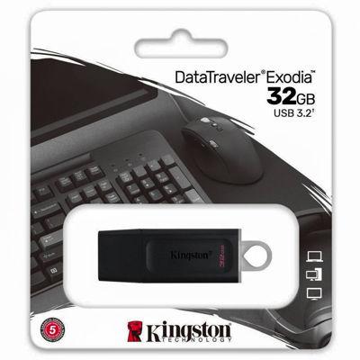 Kingston DataTraveler Exodia 32GB USB 3.2 Flash Drive Black-Teal DTX/32GB