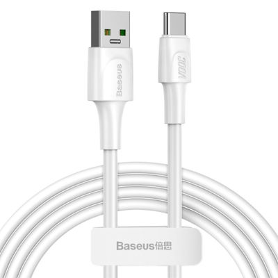 BASEUS VOOC Flash Charge USB for Type-C Data Cable 5A, 2m - White