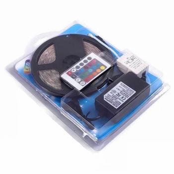 LED STRIP 5m Ταινία RGB LED με τηλεχειριστήριο – 12V 5M IP65