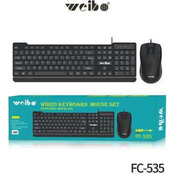 Weibo  Ενσύρματο πληκτρολόγιο και ποντίκι –  FC-535