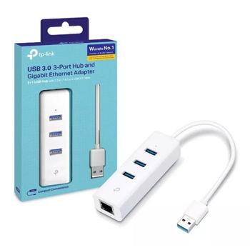 TP-LINK USB 3.0 3-Port Hub and RJ45 Gigabit Ethernet Network Adapter