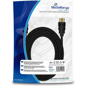 MediaRange HDMI High Speed With Ethernet 5m Καλώδιο