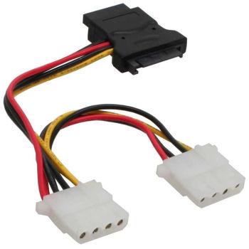 Inline 29679 Sata Power to 3 x Molex ( 3x5.25FEM ) 0.15m