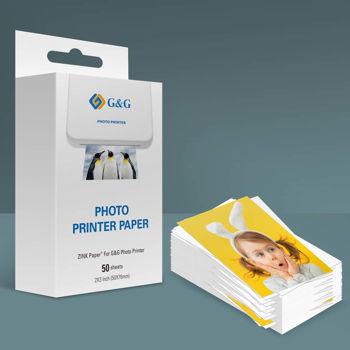 G&G Zink photo paper GG-ZP023-50 for Canon, , Huawei, HP, Polaroid, Xiaomi printers; 50 mm x 76 mm; 50 pcs