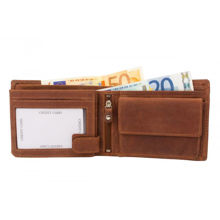 Wallet Brown High Quality Leather RFID Protection (2412)